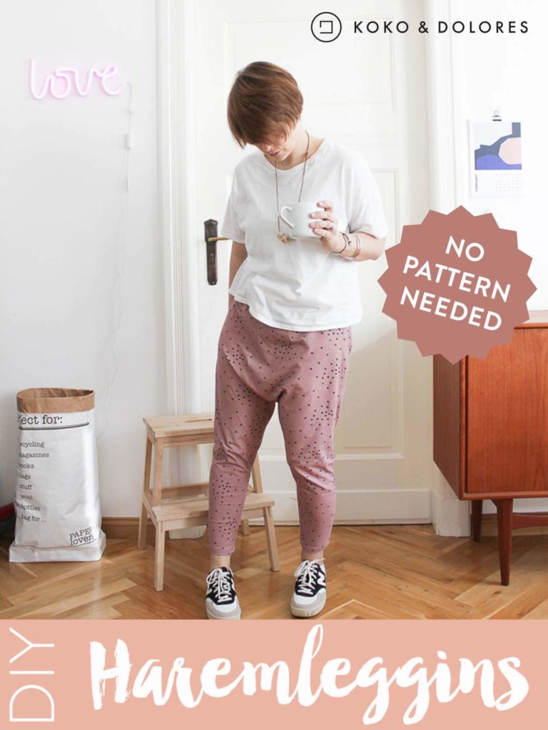 Harem Leggins Sewing without Pattern